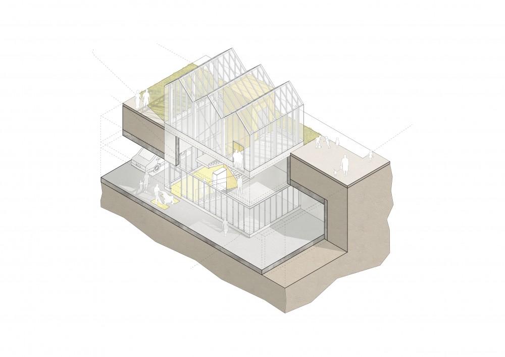 Abscis Architecten - toegangspaviljoen parking