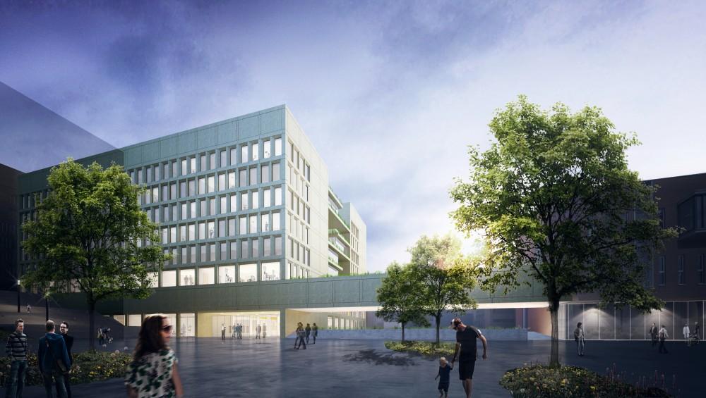 Abscis Architecten - Visualisatie zicht vanop de esplanade