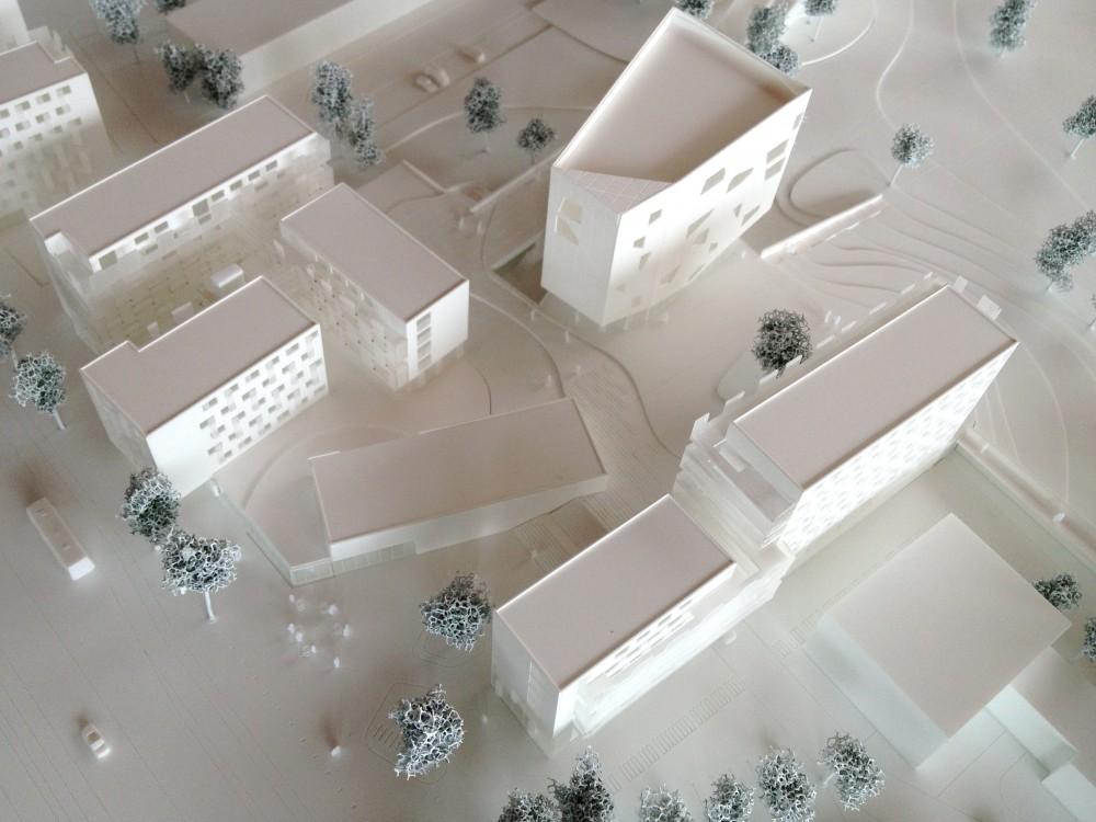 Abscis Architecten - Inplanting – maquette Imake