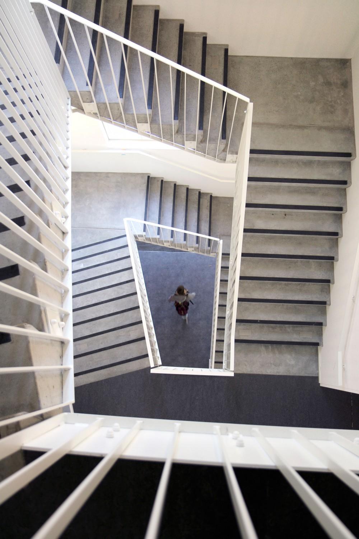 Abscis Architecten - traphal internaat - fotografie Abscis Architecten