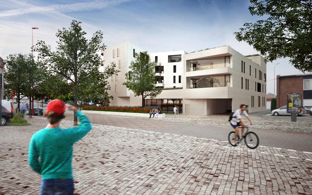 Abscis Architecten - zicht vanop het Kongoplein - visual in progress - Abscis Architecten