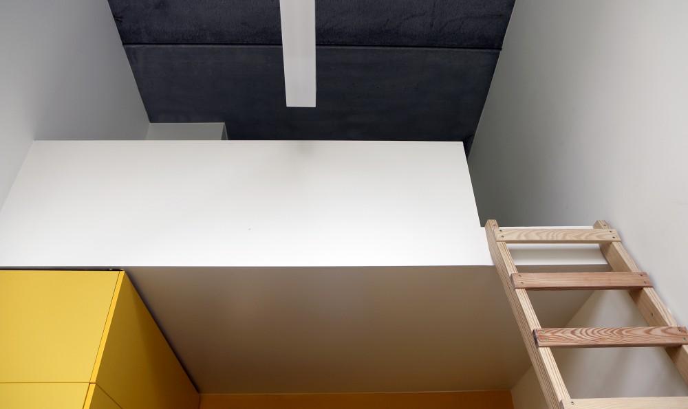Abscis Architecten - mezzanine slaapkamer internaat - fotografie Abscis Architecten