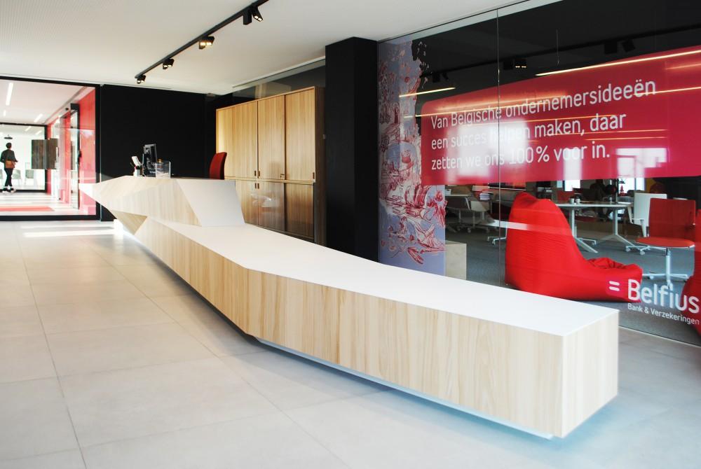 Abscis Architecten - Onthaalruimte met balie - fotografie Abscis Architecten