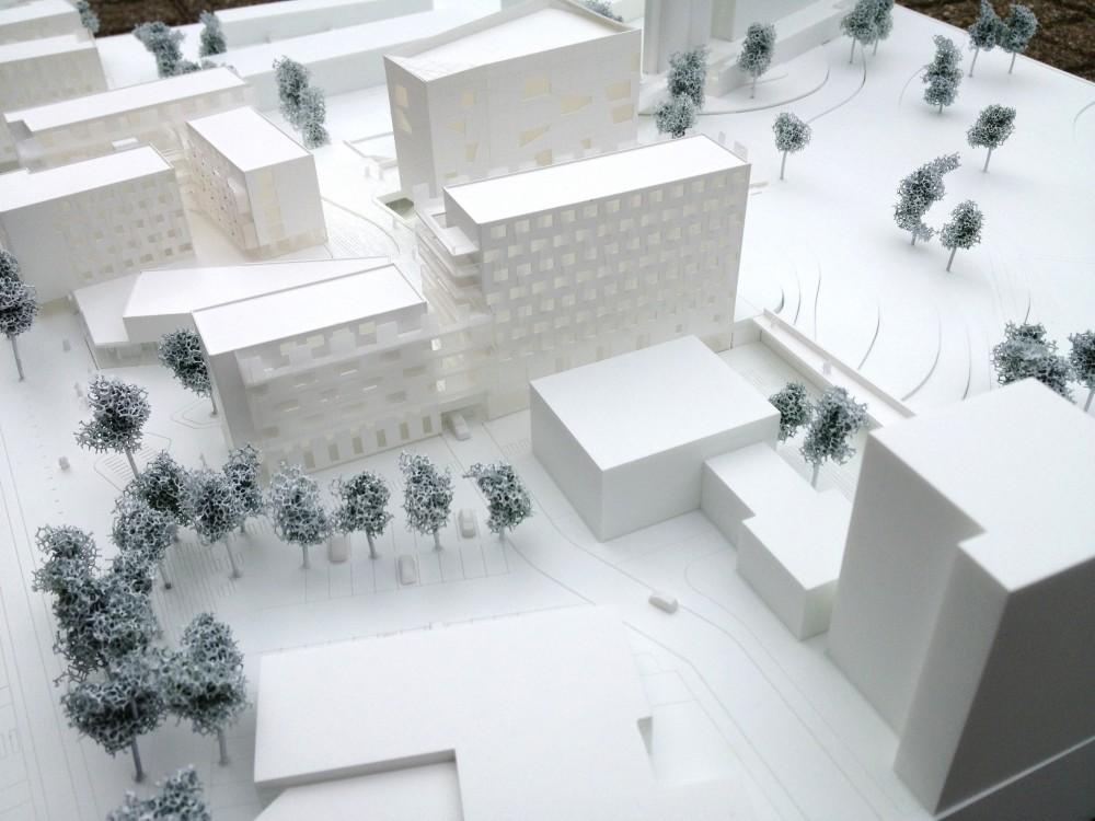 Abscis Architecten - Zicht op het park – maquette Imake