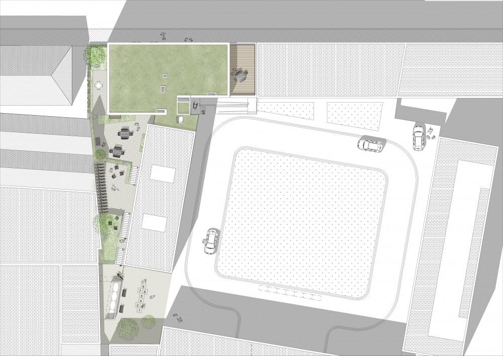 Abscis Architecten - Inplanting wedstrijdontwerp - visualisatie Team HENK