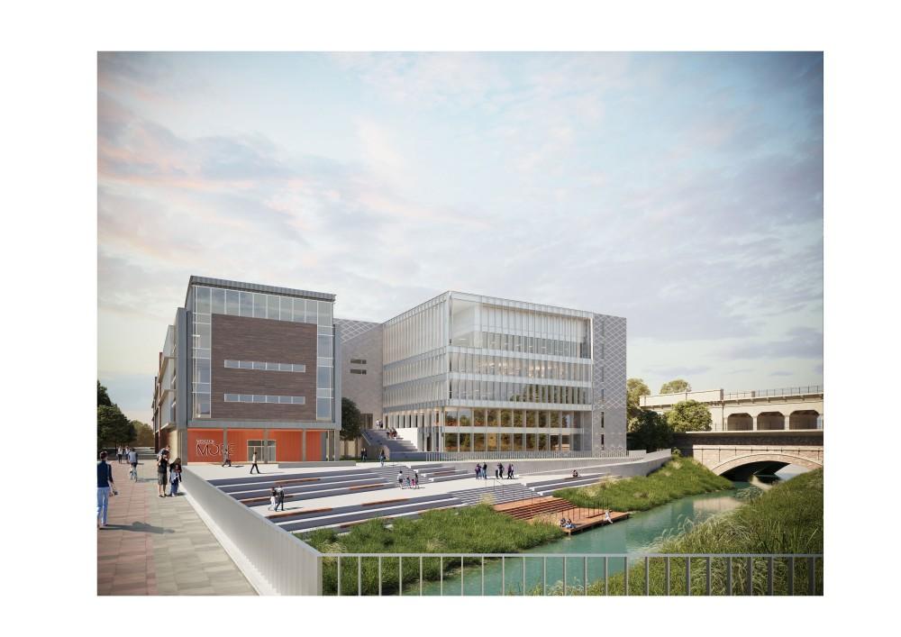 Abscis Architecten - visualisatie gebouw in de omgeving