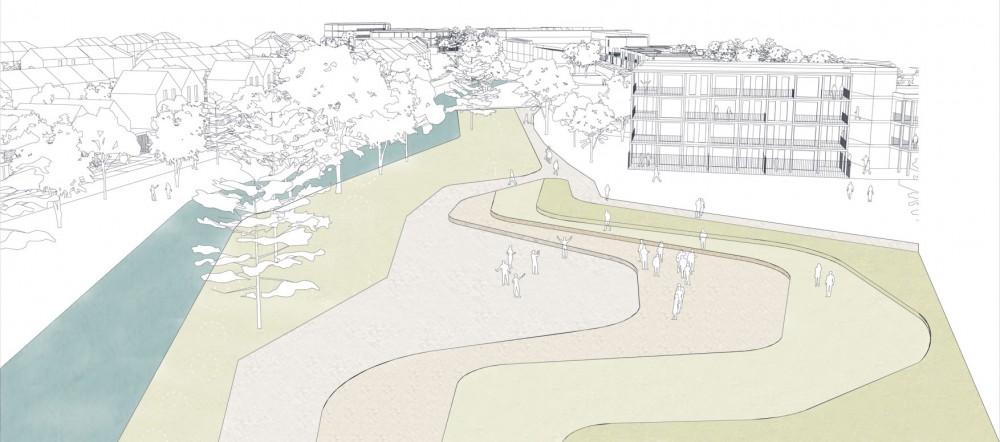 Abscis Architecten - de arena als centrale ontmoetingsplaats