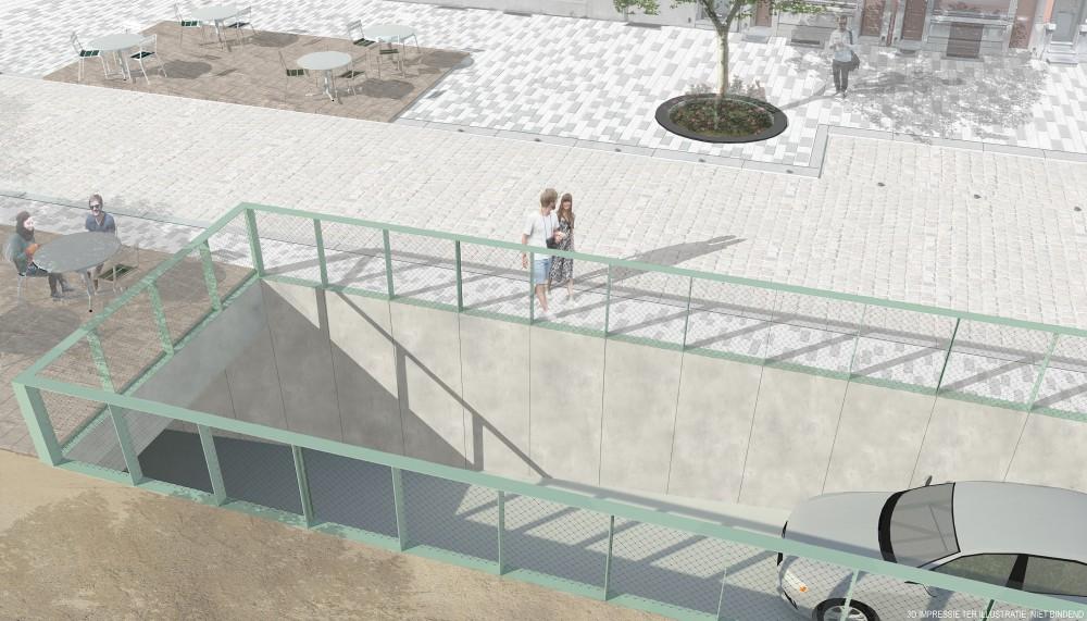 Abscis Architecten - inrijhelling Kooldok - visualisatie Abscis Architecten