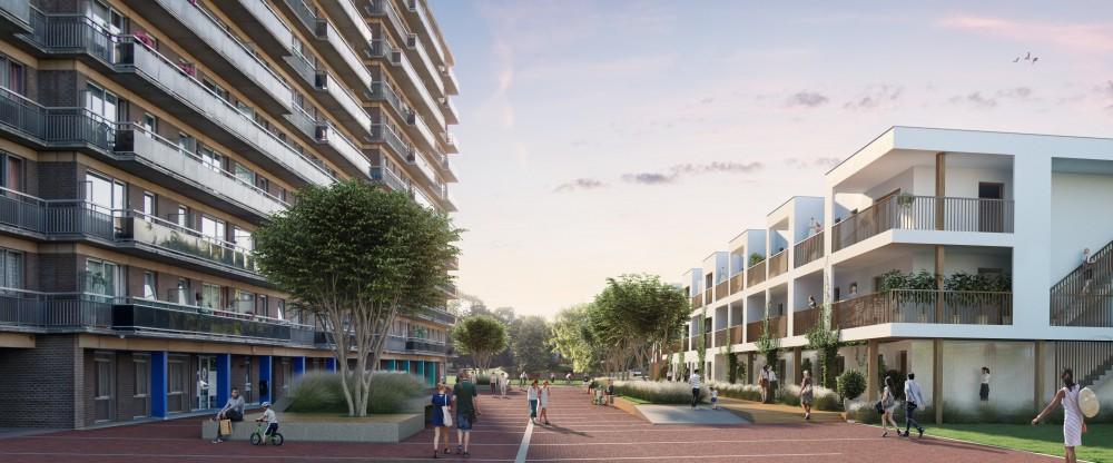 Abscis Architecten - Nieuwe publieke doorsteek - visualisatie ARCHITENKO
