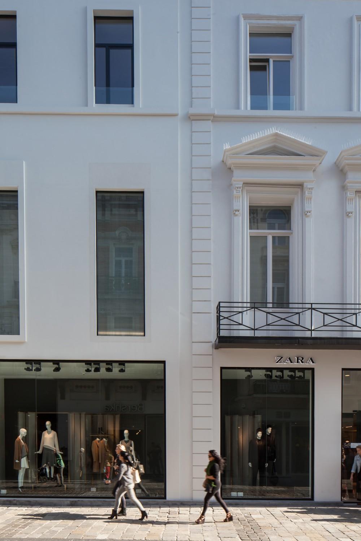 Abscis Architecten - Gevel winkel en appartementen Veldstraat – fotografie Thomas De Bruyne