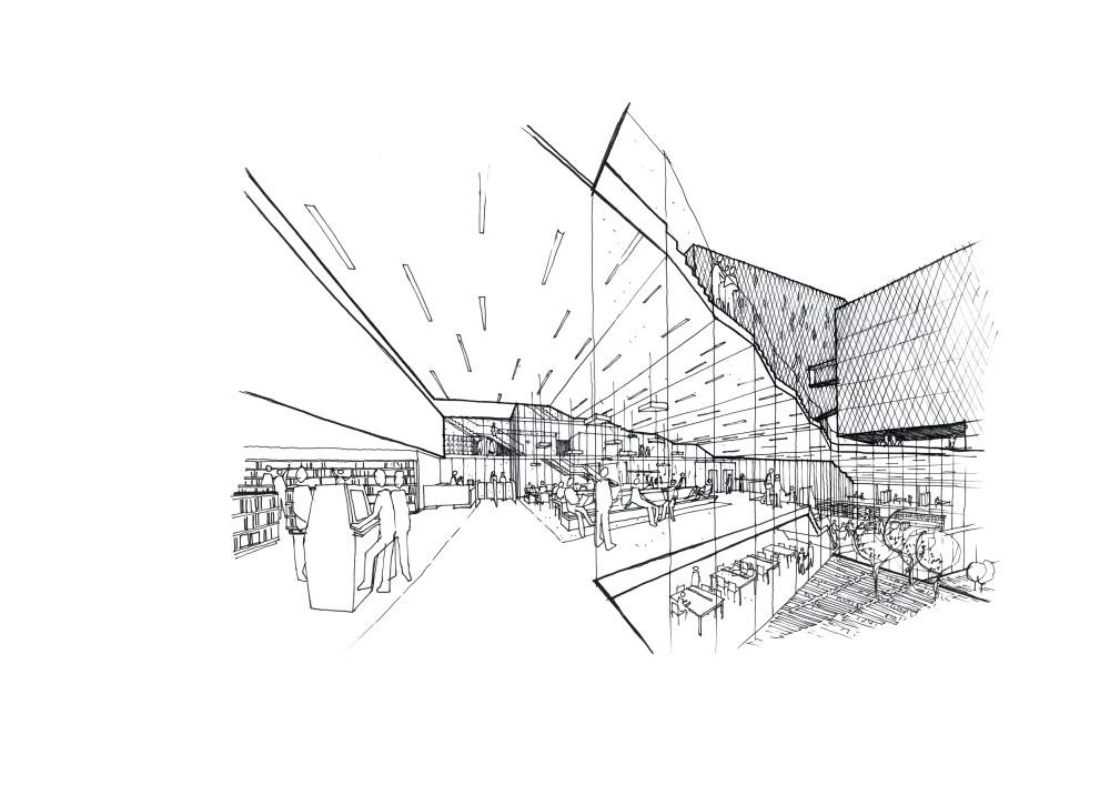 Abscis Architecten - Schets bibliotheek