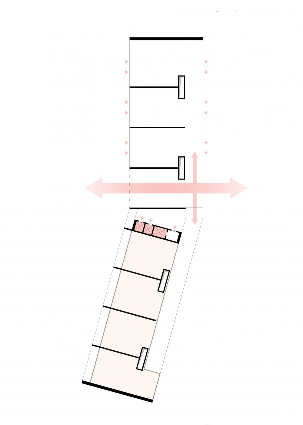 Abscis Architecten - schema circulatie