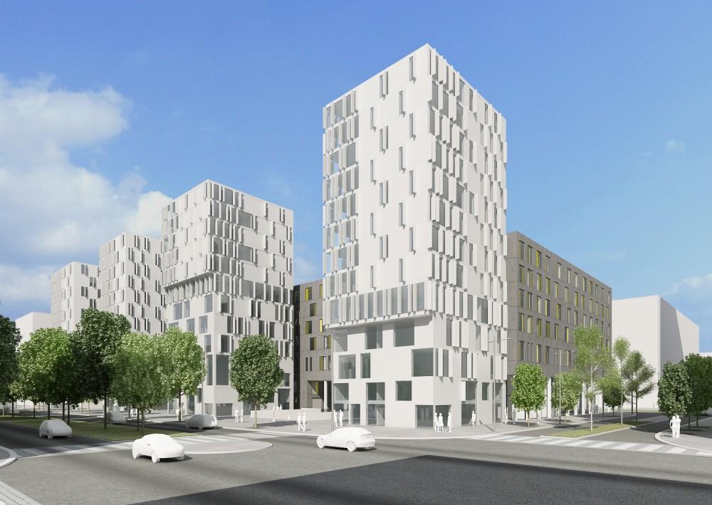 Abscis Architecten - wedstrijdvoorstel voor sociaal-ecologische woontorens
