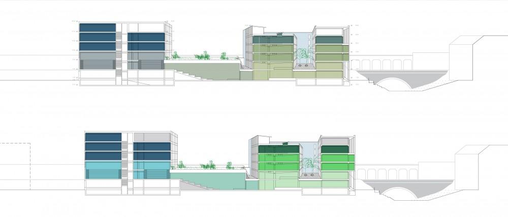 Abscis Architecten - detail snede