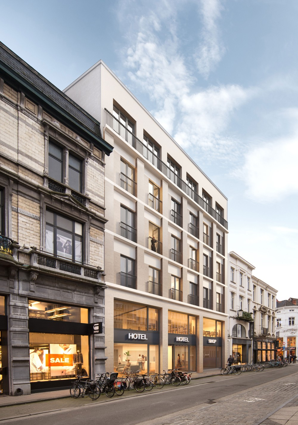 Abscis Architecten - nieuwe gevel Voldersstraat