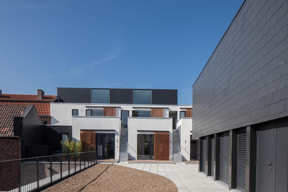 Abscis Architecten - Groendak en gevel appartementen Veldstraat – fotografie Thomas De Bruyne