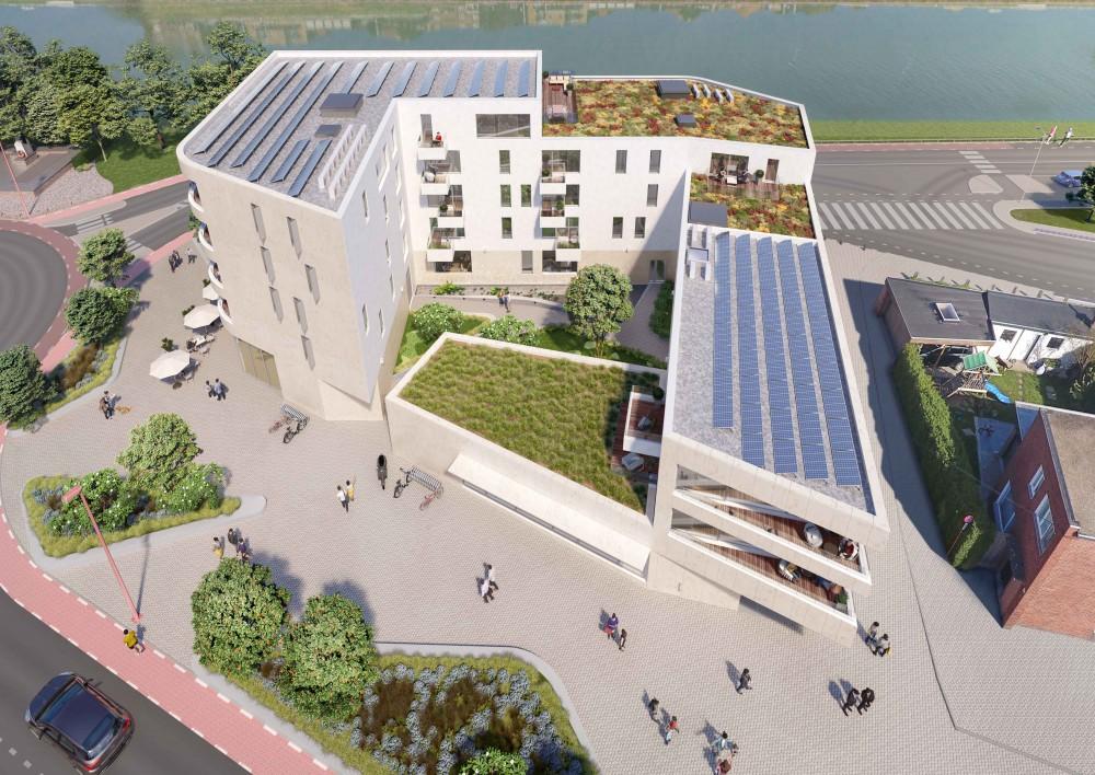 Abscis Architecten - dakenlandschap - visualisatie Landbergh