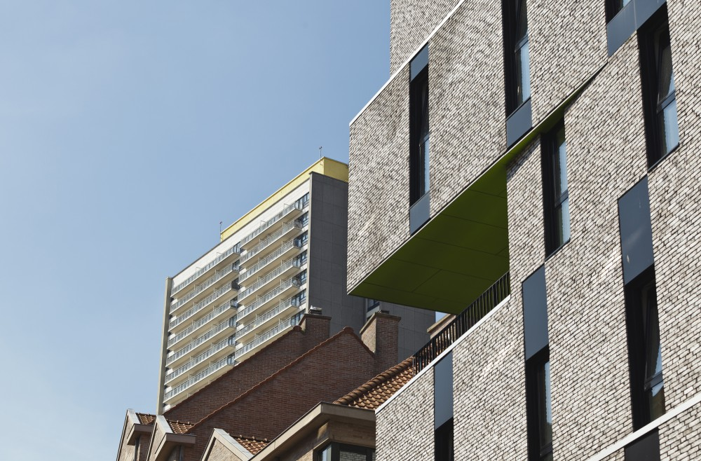 Abscis Architecten - Inpandig terras op de derde verdieping – fotografie Studio Claerhout