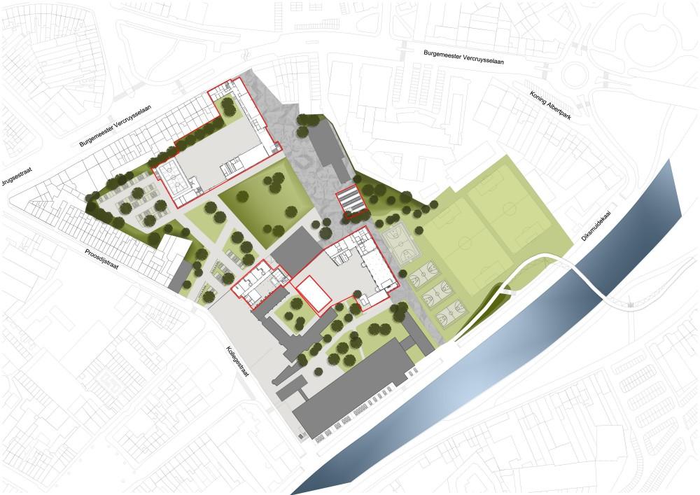 Abscis Architecten - inplanting campus Kaai