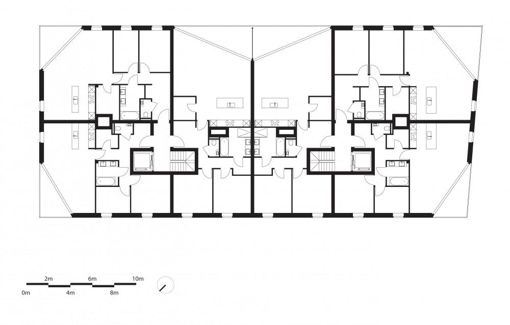 Abscis Architecten - Ankersmit - grondplan eerste verdieping
