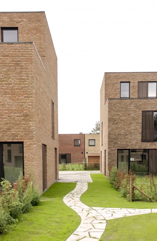 Abscis Architecten - omarmde binnengebied