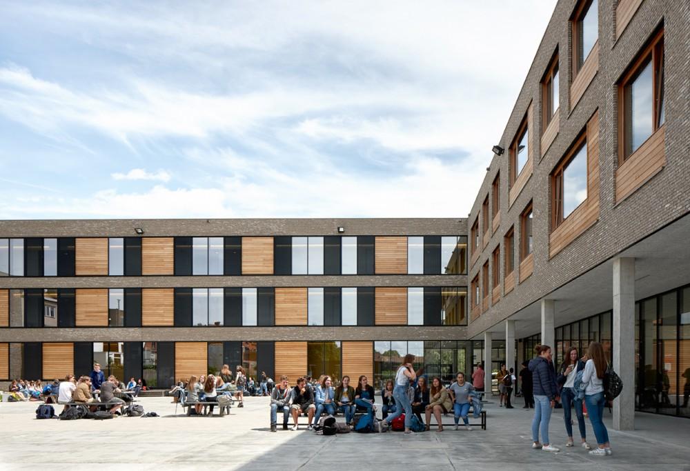 Abscis Architecten - nieuwbouw tweede graad - fotografie Dennis De Smet