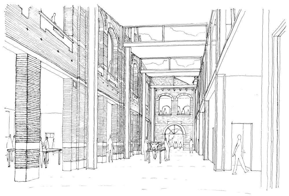 Abscis Architecten - Schets interieur KTA