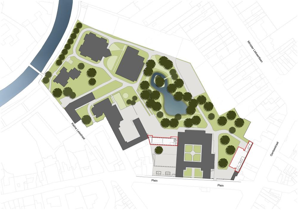 Abscis Architecten - inplantingsplan - Abscis Architecten