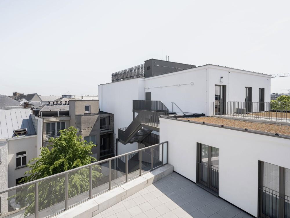 Abscis Architecten - zicht vanaf de dakterrassen - foto Jeroen Verrecht