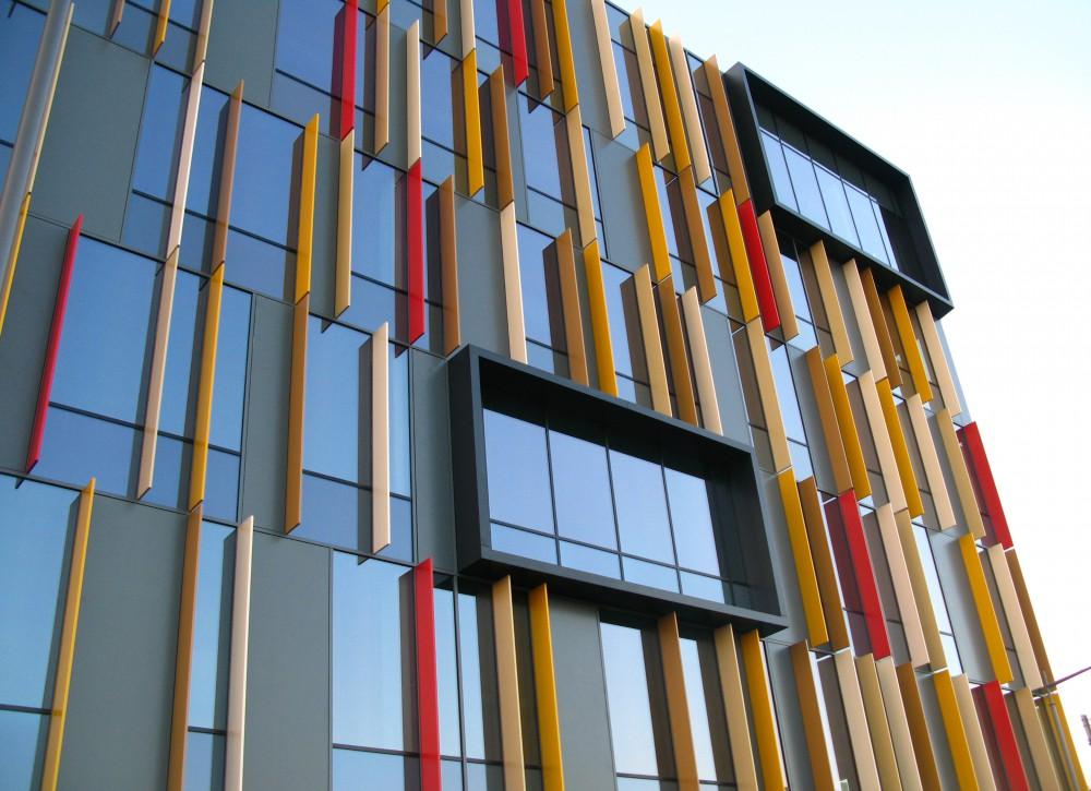 Abscis Architecten - Detail loggia's in de gordijngevel –  fotografie Abscis Architecten