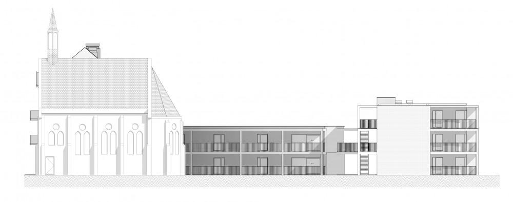 Abscis Architecten - gevel zijde binnenplein - Abscis Architecten