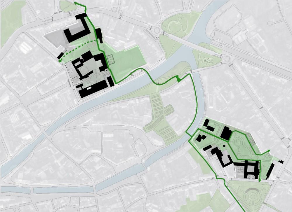 Abscis Architecten - overzicht masterplan scholencampus