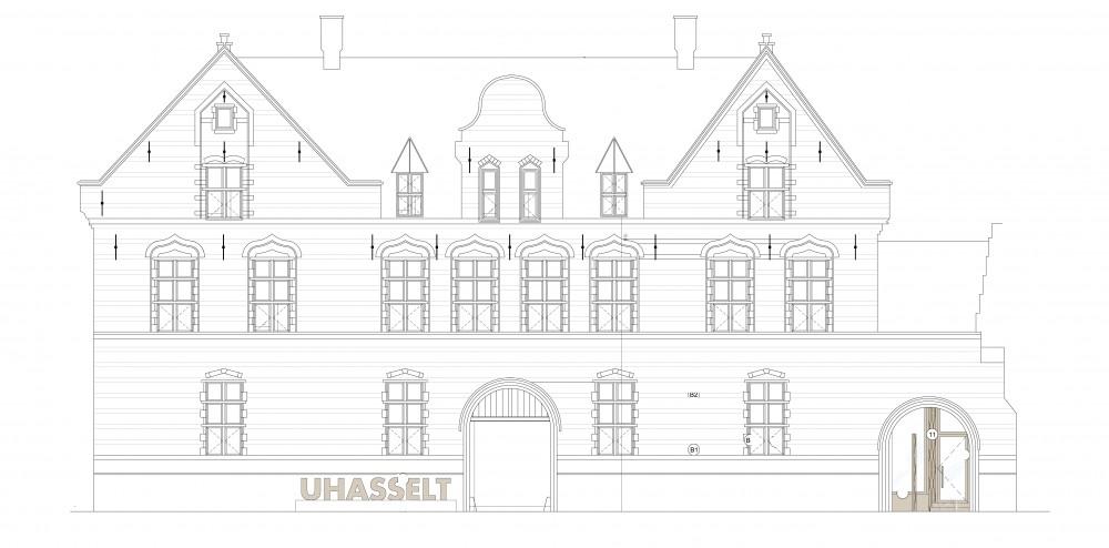 Abscis Architecten - gevelbeeld straatzijde