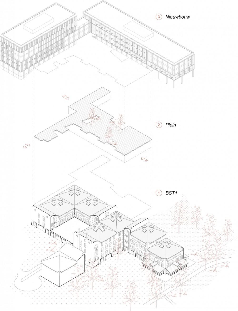 Abscis Architecten - schema axonometrie