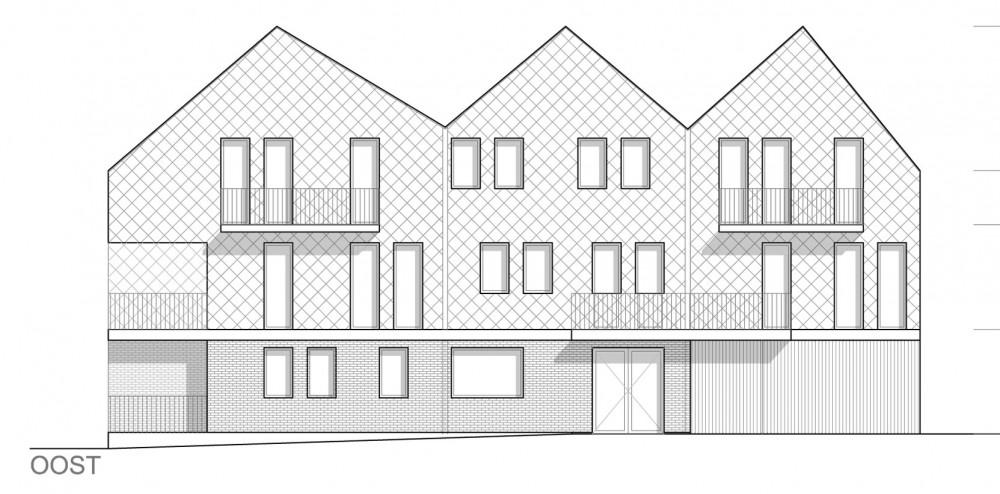 Abscis Architecten - detail woningen - gevel oost