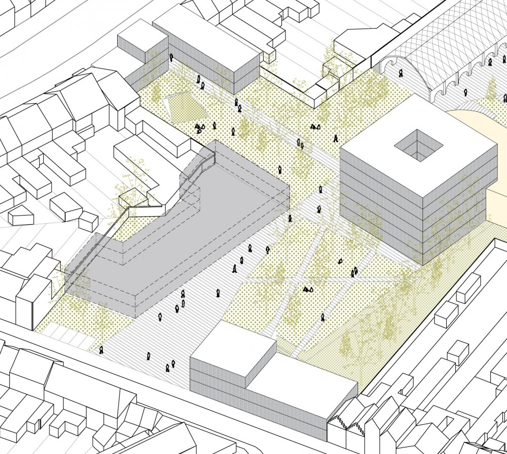 Abscis Architecten - uitgangspunt: pleinen met eigen identiteit en karakter