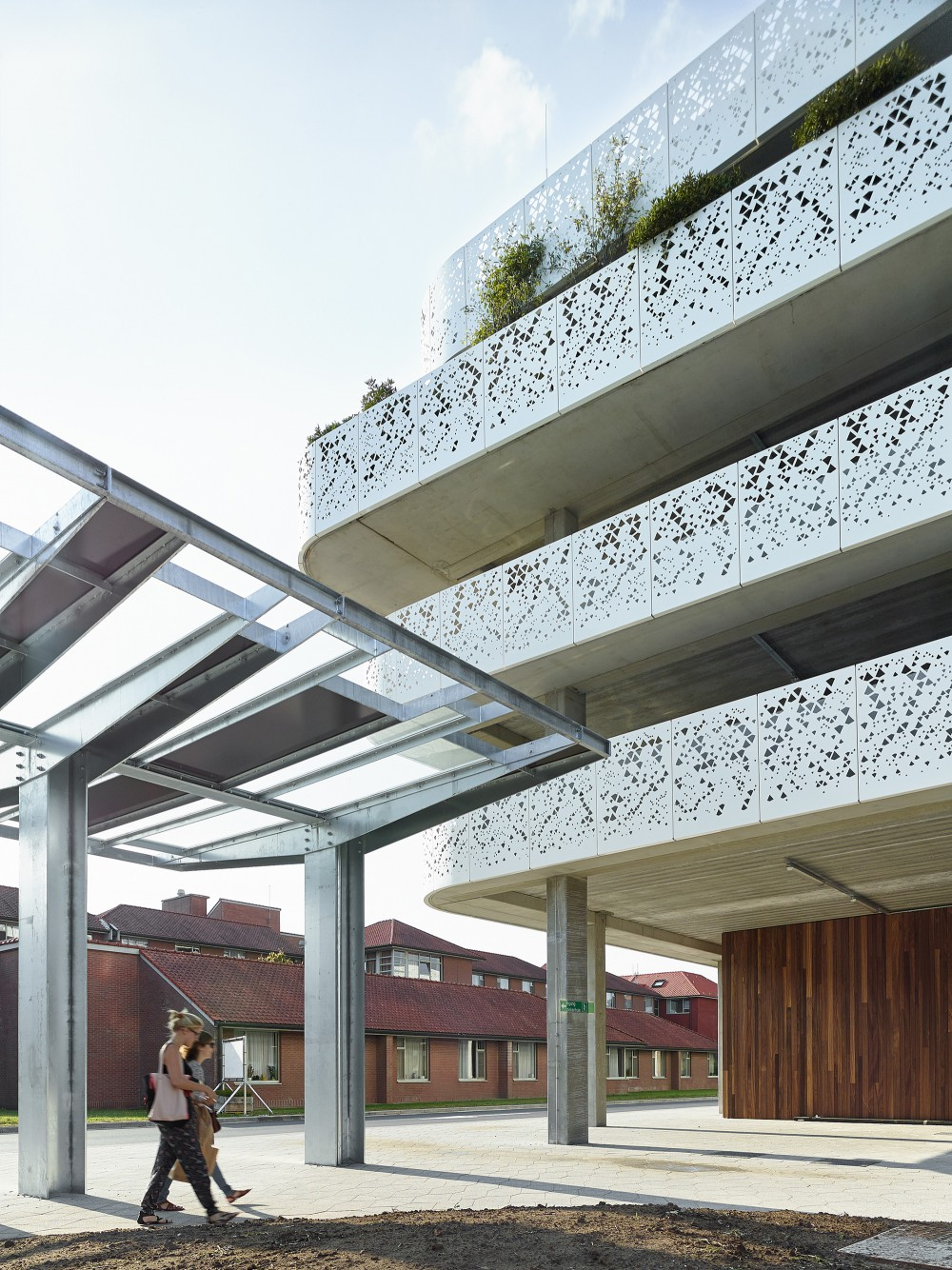 Abscis Architecten - Roofed passage - photography Dennis De Smet
