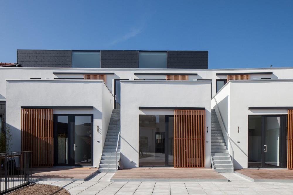 Abscis Architecten - Dakappartementen met privéterrassen zijde Veldstraat – fotografie Thomas De Bruyne