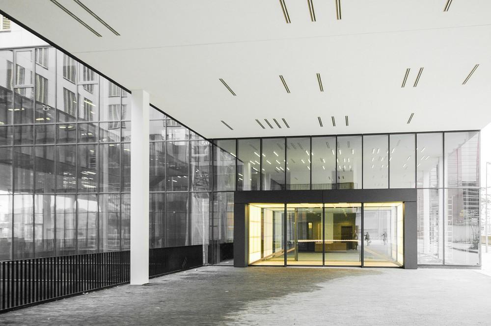 Abscis Architecten - main entrance - photography Fabeck Architectes