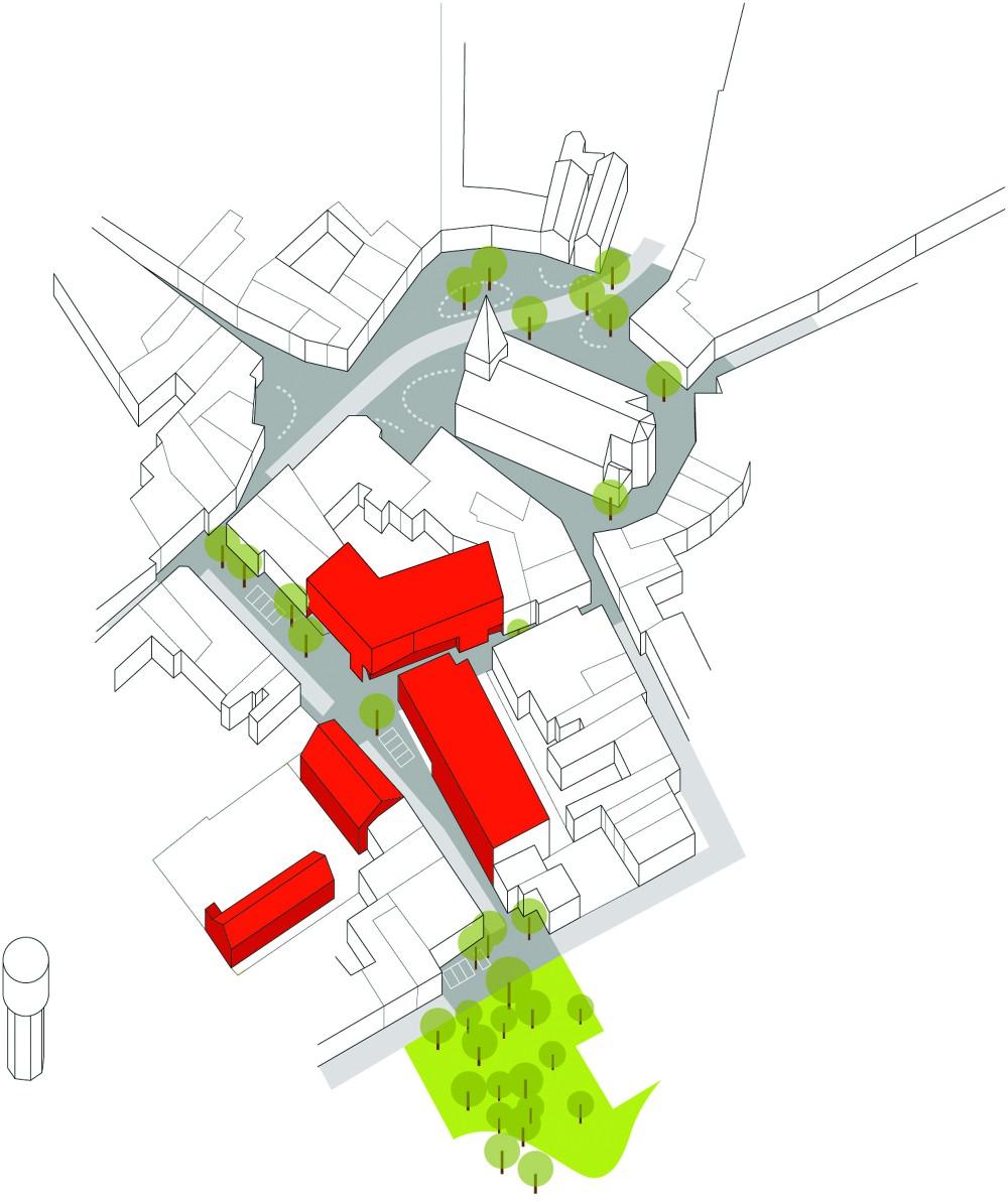 Abscis Architecten - volumestudie in stedelijk weefsel