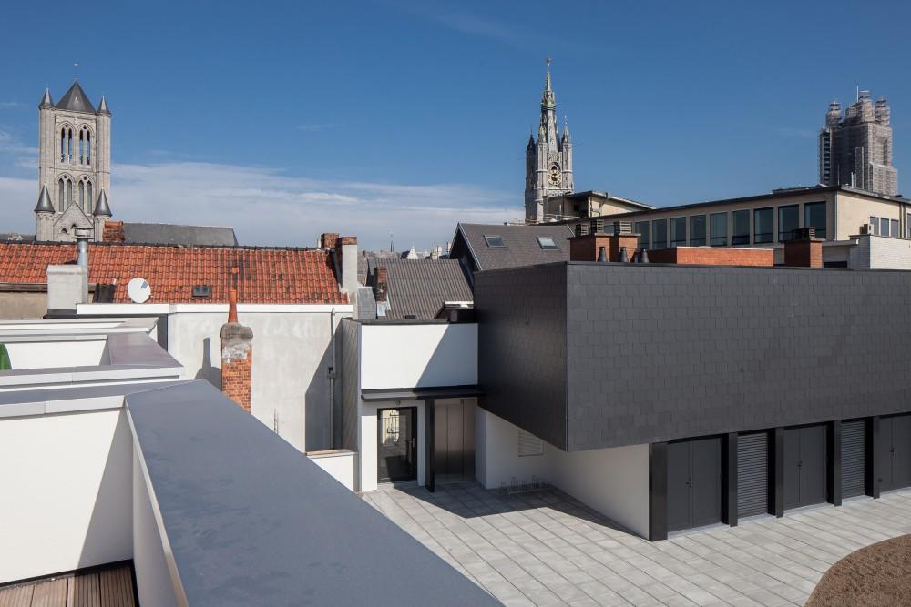 Abscis Architecten - Gemeenschappelijke delen dakappartementen – fotografie Thomas De Bruyne