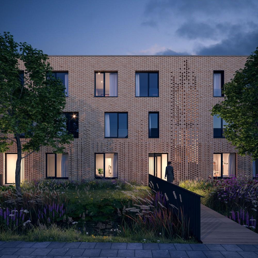 Abscis Architecten - visualisatie Bureel Visueel