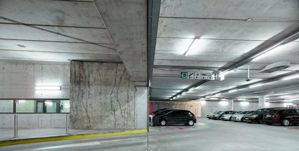 Abscis Architecten - Ondergrondse parking - fotografie Dennis De Smet