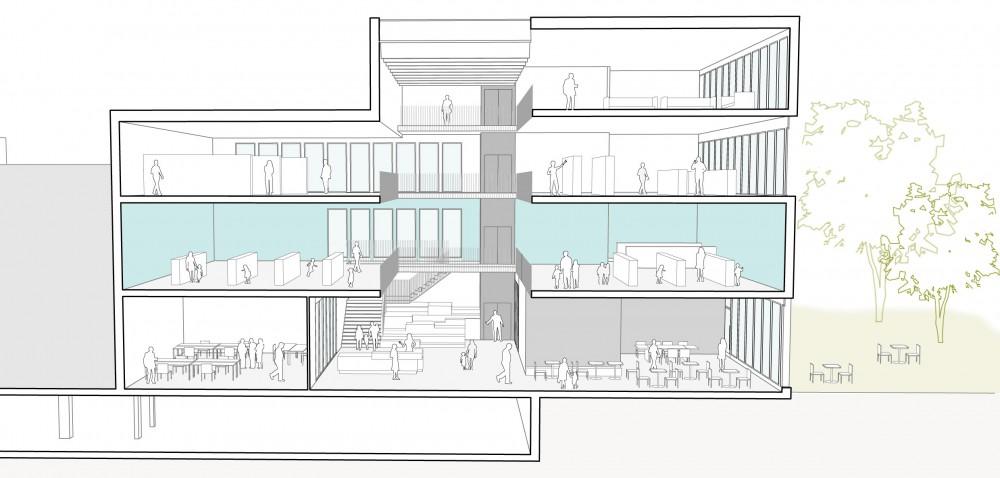 Abscis Architecten - snede vrijetijdshuis