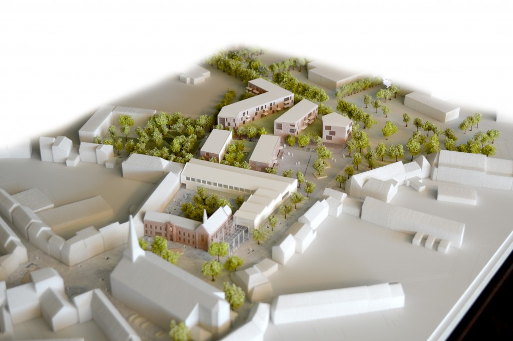 Abscis Architecten - project area - scale model iMake