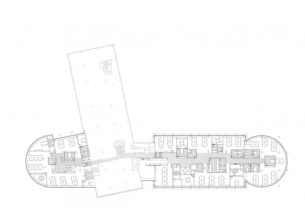 Abscis Architecten - grondplan tweede verdieping - Abscis Architecten