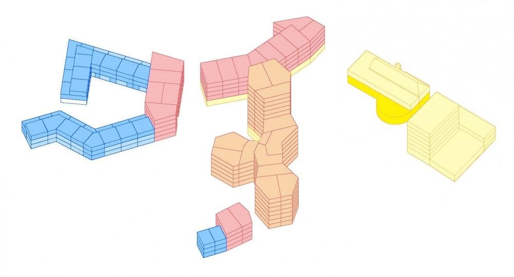 Abscis Architecten - schema verschillende units