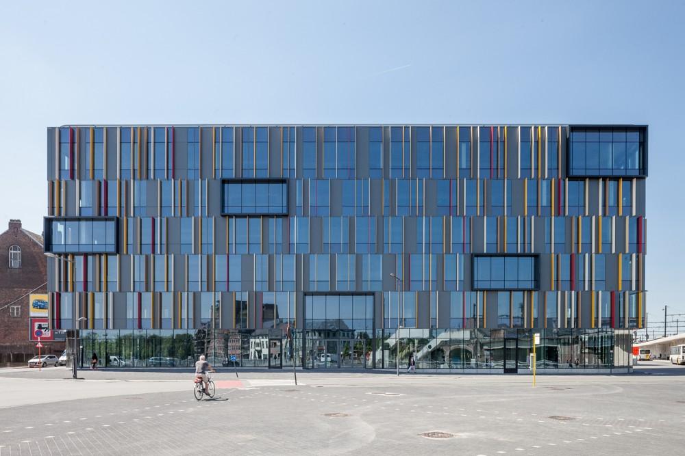 Abscis Architecten - Gevel Werfplein –  fotografie Thomas De Bruyne