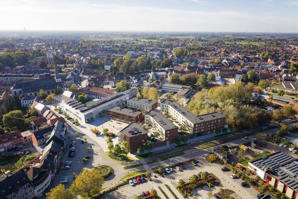 Abscis Architecten - overzicht creatieve campus Hart van Hamme - visualisatie AB Animotions