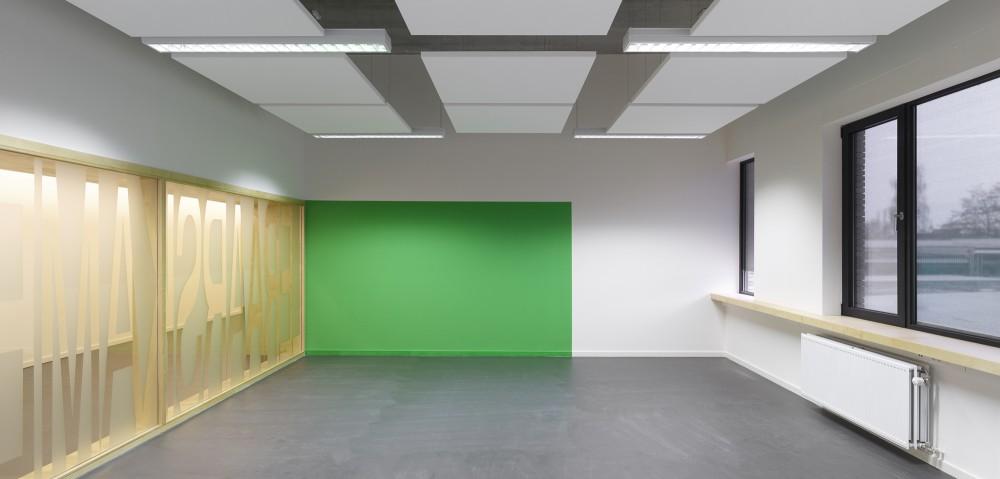 Abscis Architecten - middenschool met kleuraccenten – fotografie Toon Grobet